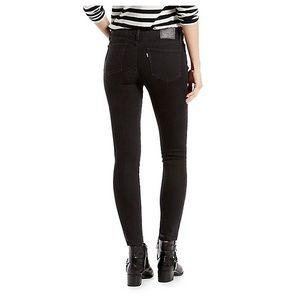 Levi's Black 711 Skinny Jeans